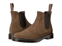 Dr. Martens 2976 Chelsea Boot Khaki Hi Suede Wp Guesset Elastic Men's Pull On Boots Brown