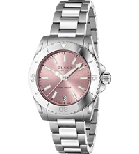 Gucci Ya136401 Dive Stainless Steel Watch Pink
