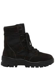 Yeezy Suede And Techno Canvas Lace Up Boots