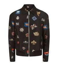 Alexander Mcqueen Badge Embroidered Blouson Jacket Male