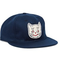 Ebbets Field Flannels 1961 Kansas City Katz Appliqued Wool Felt Baseball Cap Blue
