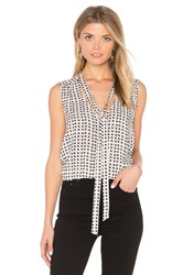 Velvet By Graham And Spencer Annaline Tank Black And White