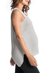 Bun Maternity Women's Nursing Swing Tank Heather Gray