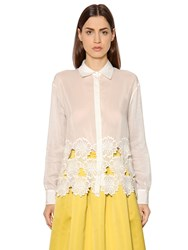 Rochas Floral Cotton And Silk Voile Shirt