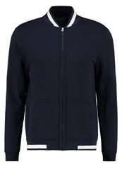 Abercrombie And Fitch Bomber Jacket Navy Dark Blue