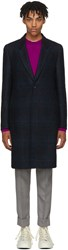 Paul Smith Ps By Multicolor Wool Plaid Coat