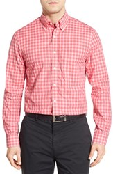 Men's Bobby Jones 'Ace' Regular Fit Long Sleeve Plaid Sport Shirt Strawberry