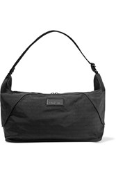 Adidas By Stella Mccartney Faux Leather Trimmed Printed Shell Bag Black