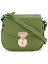 Giorgio Armani Foldover Top Crossbody Bag Green