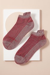 Becksondergaard Summer Metallic Striped Ankle Socks Red