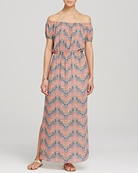 Aqua Dress Paisley Off The Shoulder Maxi Multi