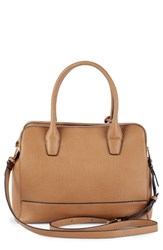 Sole Society Nera Faux Leather Satchel Brown Honey
