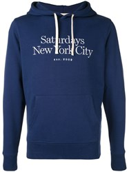 Saturdays Surf Nyc Logo Hoodie Blue