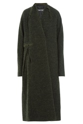 Damir Doma Coat With Wool And Mohair Green