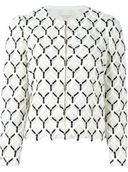 Giambattista Valli Embroidered Jacket White