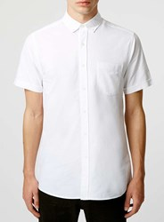Topman White Short Sleeve Oxford Casual Shirt