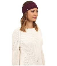 Ugg Isla Lurex Cable Headband Aster Multi Headband Red