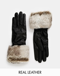 Barts Kahlo Leather Gloves Black