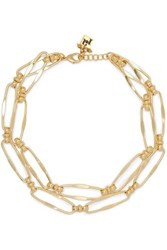 Rosantica Isola Layered Gold Tone Necklace One Size