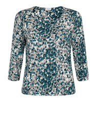 Eastex Printed Jersey Top Green
