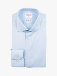 Smyth And Gibson Oxford Pin Dot Contemporary Fit Shirt Blue