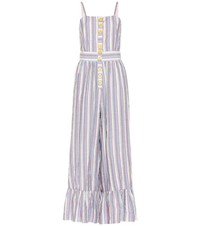 See By Chloe Striped Cotton Blend Jumpsuit Multicoloured