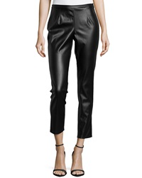Philosophy Faux Leather Cropped Leggings Blackbird