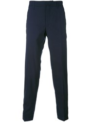 Incotex Button Cuff Trousers Men Wool 46 Blue