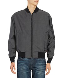 Strellson Reversible Bomber Jacket Dark Grey