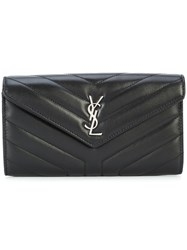 Saint Laurent Loulou Wallet Black
