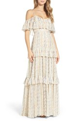 Needle And Thread Women's Cold Shoulder Tiered Gown