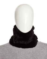 Neiman Marcus Rabbit Fur Neck Warmer Black