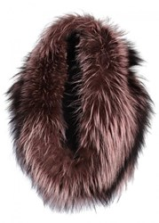 Lilly E Violetta Light Pink And Brown Fox Fur Snood