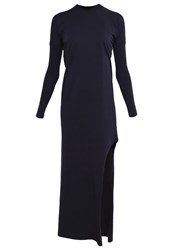 The Fifth Label City Haze Maxi Dress Navy Dark Blue
