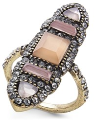 Inc International Concepts I.N.C. Brass Multi Stone Ring Created For Macy's Pink