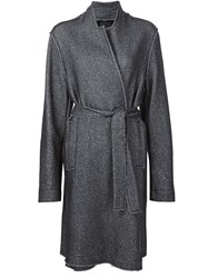 Lost And Found Ria Dunn Oversized Belted Jacket Grey