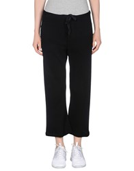 Peacock Blue Trousers 3 4 Length Trousers Women Black