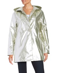 Jane Post A Line Duffle Coat Silver