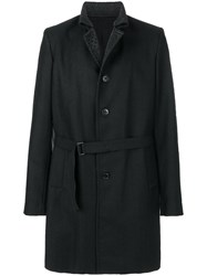 Ann Demeulemeester Bonifing Single Breasted Coat Cotton Acrylic Polyester Wool M Black