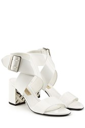 Burberry Shoes And Accessories Patent Leather Sandals