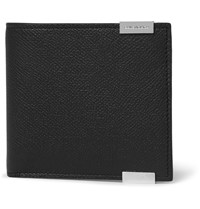 Balenciaga Phileas Grained Leather Billfold Wallet Black