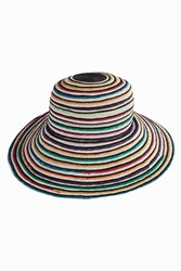 Missoni Women S Multi Stripe Wide Brim Hat Boutique1
