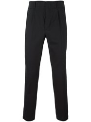 Dondup Pleated Detailing Tapered Trousers Black