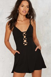 Our Cross Your Gain Cutout Romper