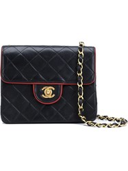 Chanel Vintage Mini Quilted Crossbody Bag Blue