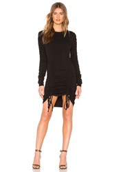 Kendall Kylie Crew Neck Ruched Dress Black