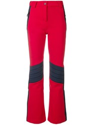 Rossignol X Tommy Hilfiger High Waist Panelled Trousers Red