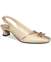 Easy Street Shoes Easy Street Incredible Evening Pumps Women's Shoes Gold