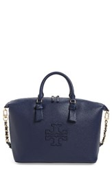 Tory Burch Harper Slouchy Leather Satchel Blue Royal Navy