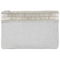 John Lewis Fabric Pouch Silver